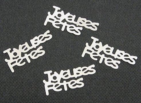 Confetti argent joyeuses fetes