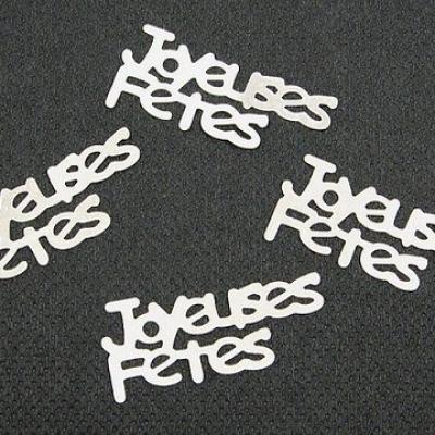 Confetti argent joyeuses fêtes (x10gr) REF/DEC429