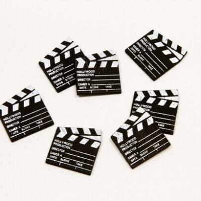 Confettis de table clapet de cinéma noir en bois (x25) REF/DEC471