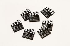 Confetti cinéma noir en bois (x25) REF/DEC471