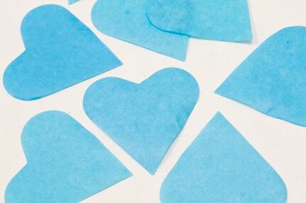 Confetti coeur bleu turquoise