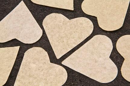 Confetti coeur ivoire