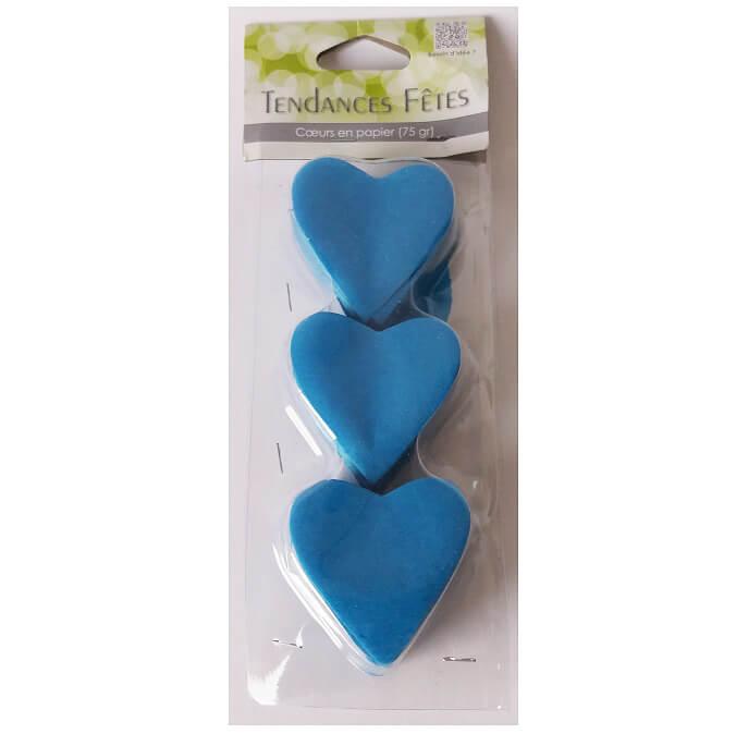 Confetti coeur mariage bleu turquoise