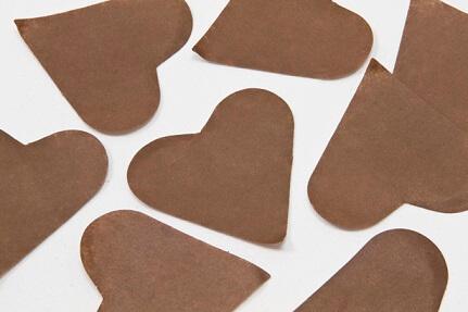 Confetti coeur marron