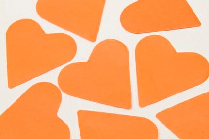 Confetti coeur orange