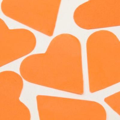 Confettis mariage coeur orange (x75gr) REF/DEC538