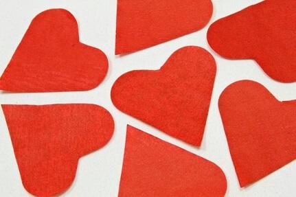 Confetti coeur rouge 1