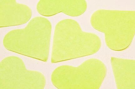Confetti coeur vert menthe