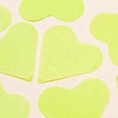 Confettis mariage coeur vert menthe (x75gr) REF/DEC538
