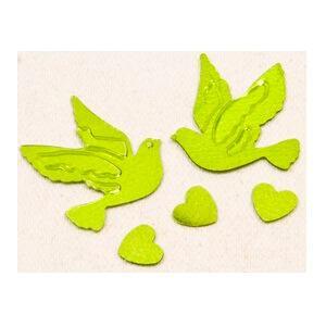 Confetti colombe et coeur vert menthe (x10gr) REF/DEC398