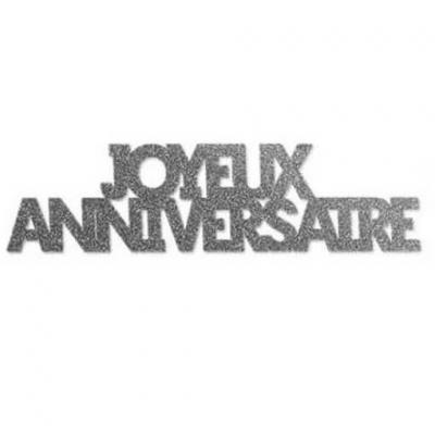 Confettis géants anniversaire argent (x6) REF/CTG00A