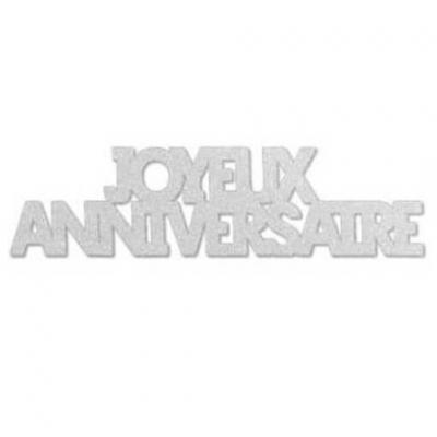 Confettis géants anniversaire blanc Albâtre (x6) REF/CTG00BA