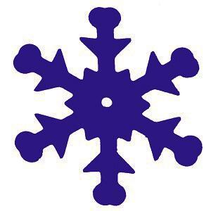 Confettis flocon bleu (x20gr) REF/4851