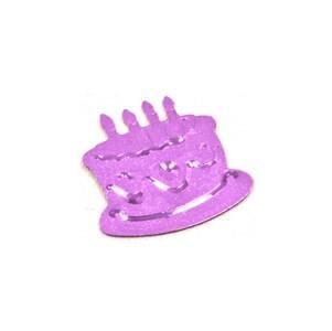 Confetti gâteau d'anniversaire parme (x10gr) REF/DEC464