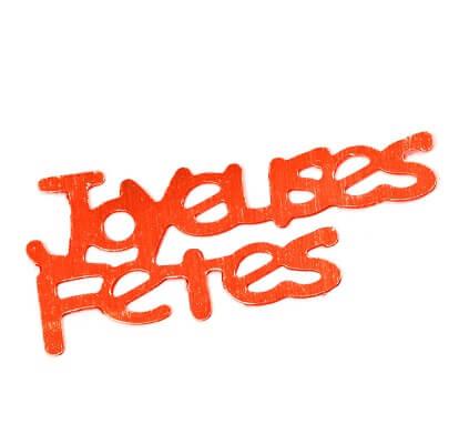 Confetti joyeuses fetes rouge