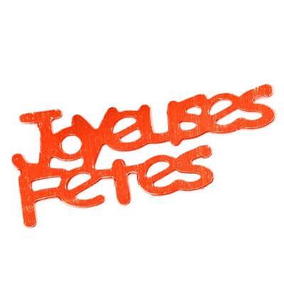 Confetti joyeuses fêtes: Rouge (x10grs) REF/DEC429