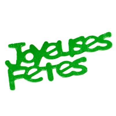 Confetti joyeuses fetes vert fonce