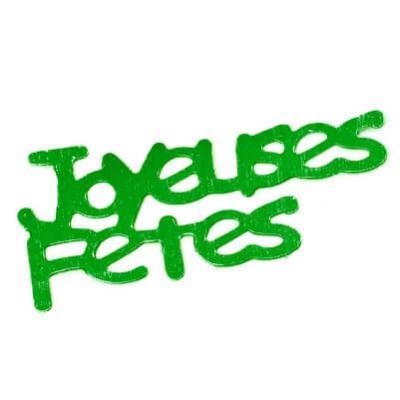 Confetti joyeuses fêtes: Vert foncé (x10grs) REF/DEC429