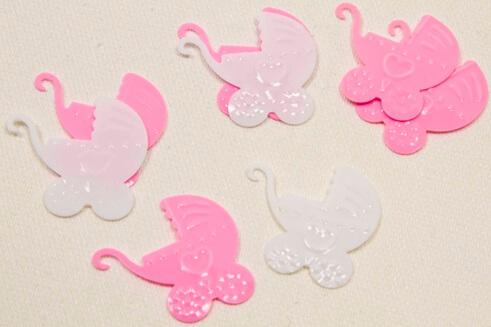 Confetti landeau rose et blanc