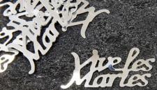 Confetti mariage argent: Vive les mariés (x10grs) REF/DEC400