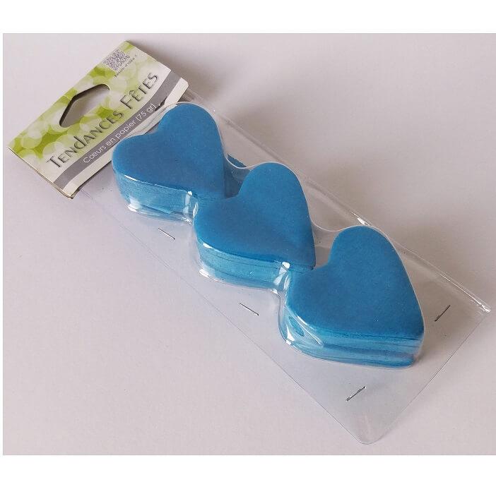 Confetti mariage coeur bleu turquoise