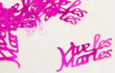Confetti mariage fuchsia: Vive les mariés (x10gr) REF/DEC400