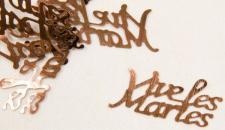 Confetti mariage marron: Vive les mariés (x10gr) REF/DEC400