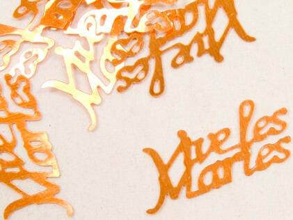 Confetti mariage orange