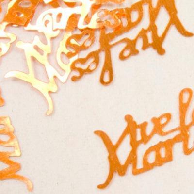 Confetti mariage orange: Vive les mariés (x10gr) REF/DEC400