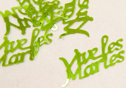 Confetti mariage vert menthe