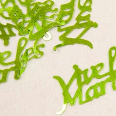 Confetti mariage vert menthe: Vive les mariés (x10gr) REF/DEC400