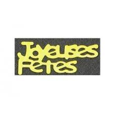 Confettis joyeuses fêtes: Or (x20grs) REF/DEC427