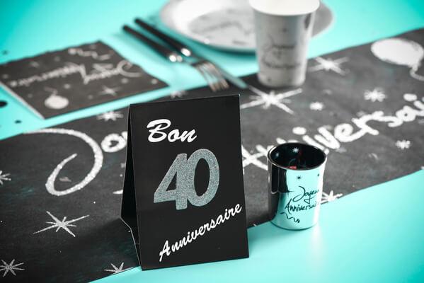 Confetti paillete anniversaire 40ans argent