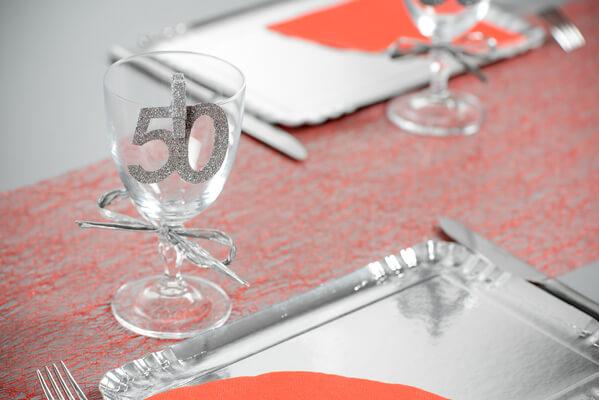 Confetti paillete anniversaire 50ans argent