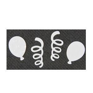 Confetti serpentin et ballon blanc (x10gr) REF/DEC667