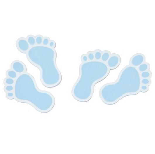 Confettis bois pied de bebe bleu ciel