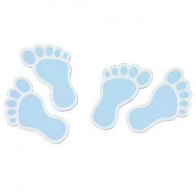 Confettis bois pied de bébé bleu ciel (x10) REF/DEC885