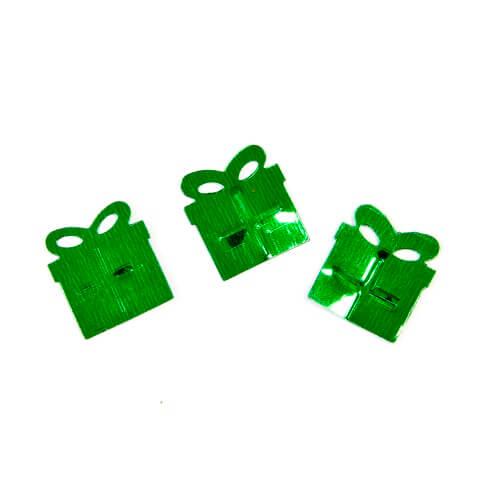 Confettis cadeaux de noel vert fonce