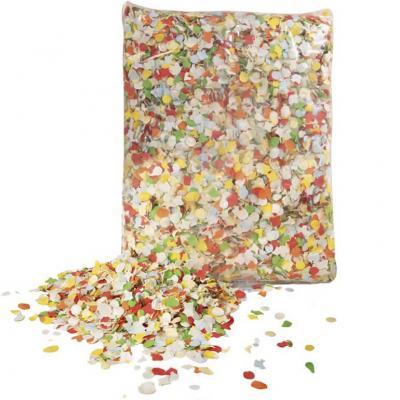 Confettis dépoussiérés multicolores Carnaval 100grs (x1) REF/31315
