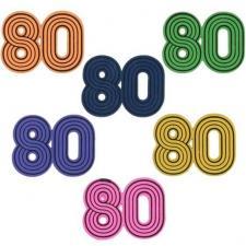 Confettis de table année 80 multicolore en bois (x10) REF/6716