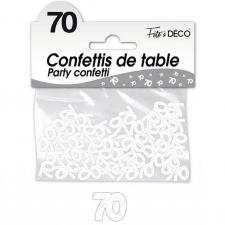 Confettis de table anniversaire 70ans blanc 10grs (x1) REF/CA07BA