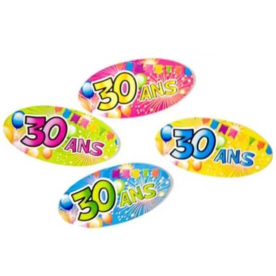 Confettis de table anniversaire multicolore 30ans