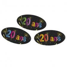 Confettis anniversaire 20ans (x15grs) REF/AA2012CH