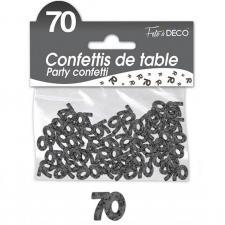 Confettis de table anniversaire 70ans noir 10grs (x1) REF/CA07N