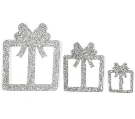 Confettis de table cadeaux de noel argent