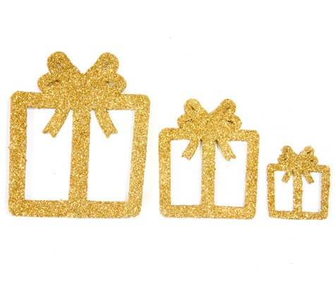 Confettis de table cadeaux de noel or