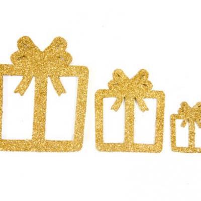 Confettis de table cadeaux de noël or (x6) REF/DEC725