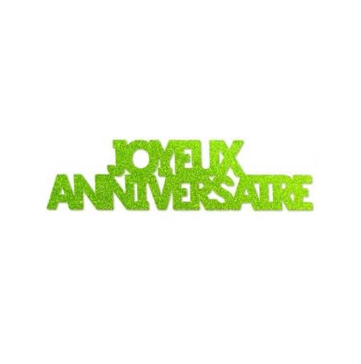 Confettis de table geant anniversaire vert