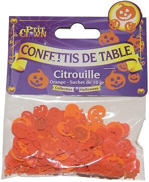 Confettis Halloween: Citrouille (x10grs) REF/90029