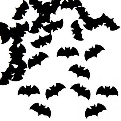 Confettis de table Halloween avec chauve-souris noir (1 x 10grs) REF/DEC612